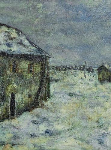 Большой дом в снегу