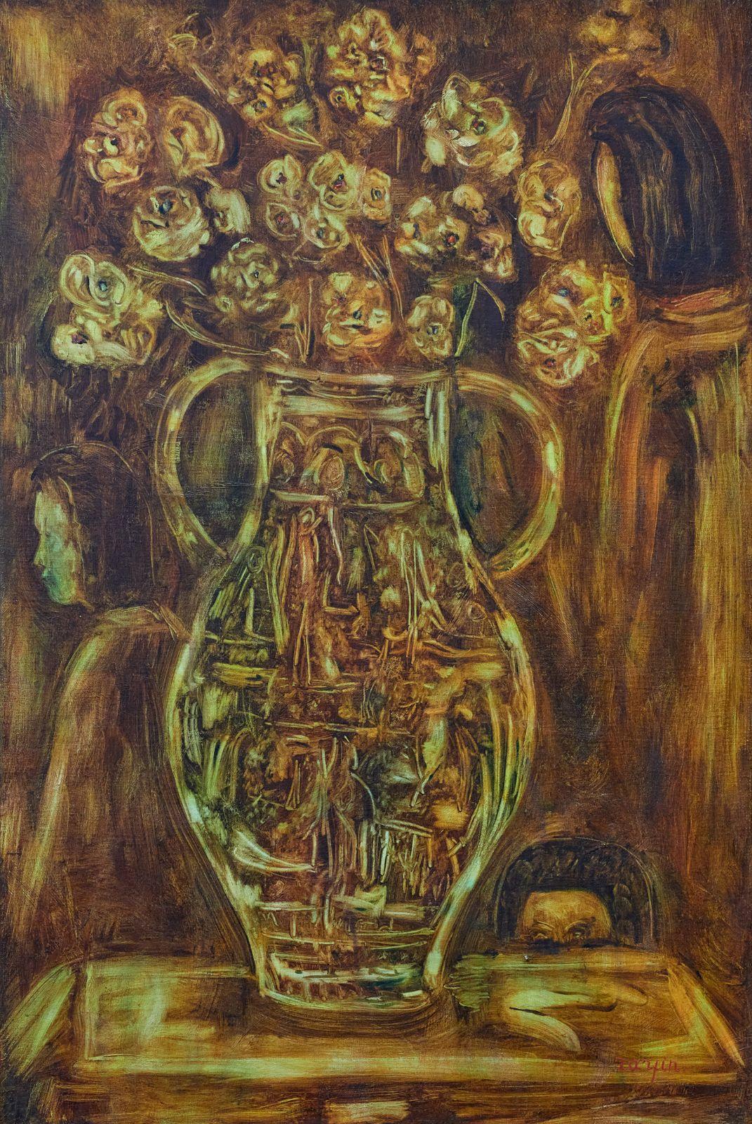 Большая ваза в охровых тонах